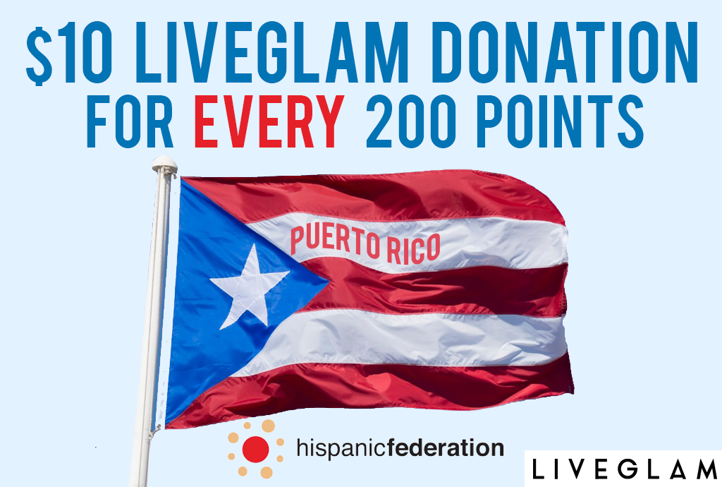 LiveGlam Puerto Rico Relief Donations