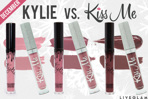 Kylie vs. KissMe: LiveGlam December Lippie Dupes!
