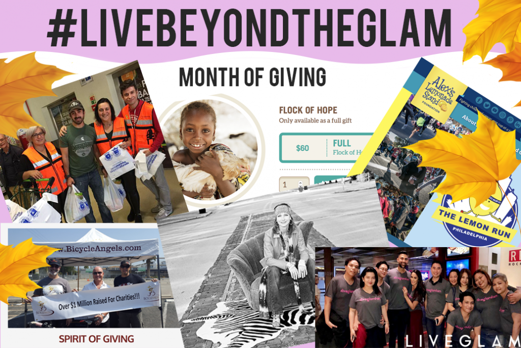#LiveBeyondTheGlam: Our Month of Giving Back
