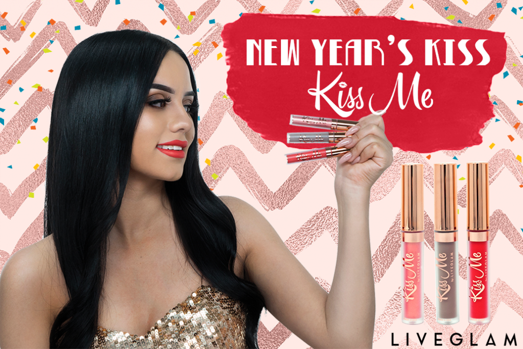 Get the Best New Year's Kiss with our January LiveGlam KissMe Lippies