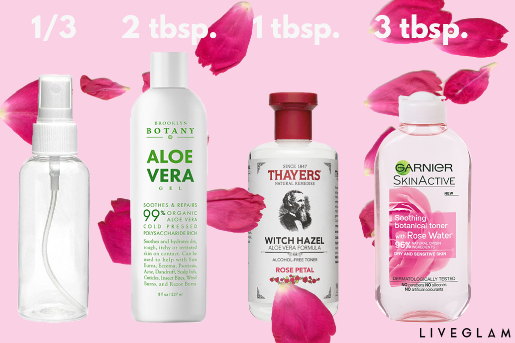 Diy mario badescu facial spray liveglam you can get all of these ingredients at your local drugstore or grocery store solutioingenieria Image collections
