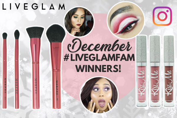December #LiveGlamFam Instagram Giveaway Winners!