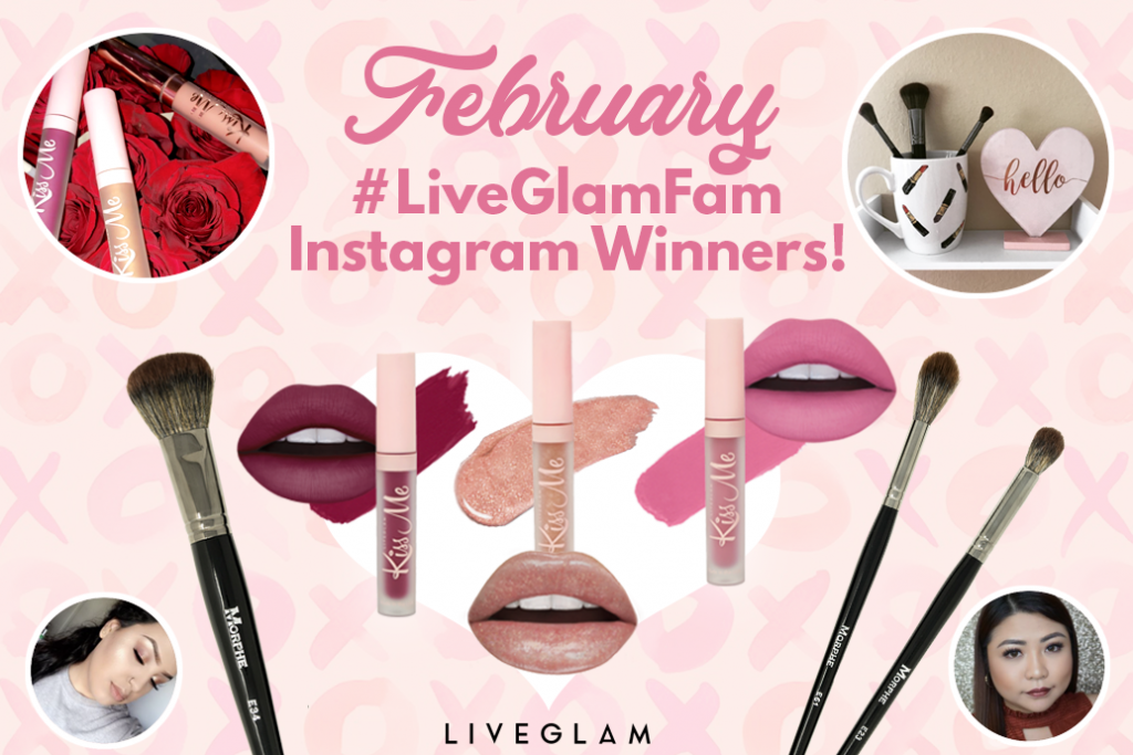 February #LiveGlamFam Instagram Giveaway Winners!