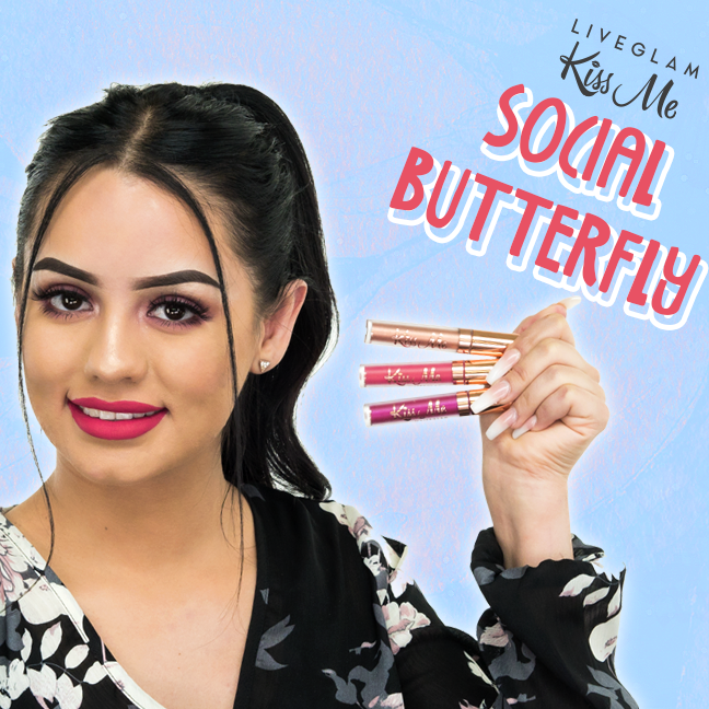 LiveGlam Social Butterfly lipstick collection