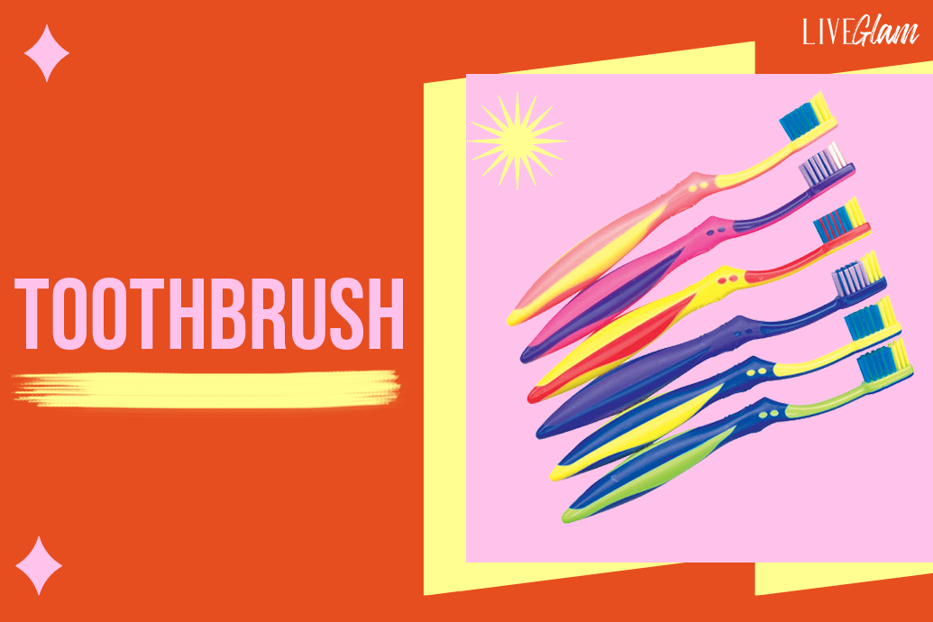remove liquid lipstick with a toothbrush