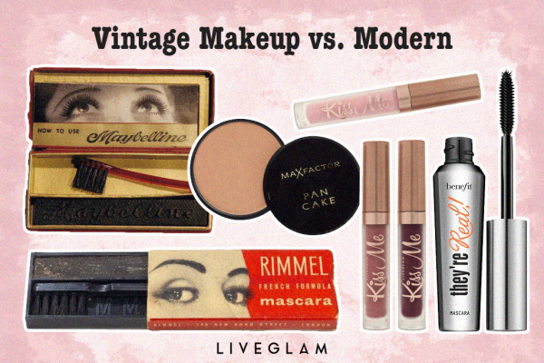 Vintage Makeup Products vs. Now