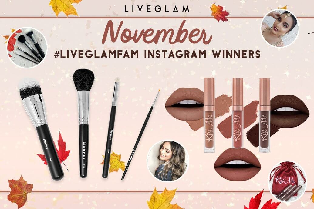 November #LiveGlamFam Giveaway Winners!