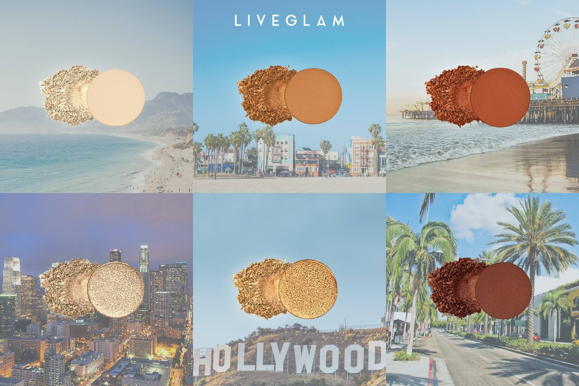 LiveGlam Marbled LA eyeshadow shades