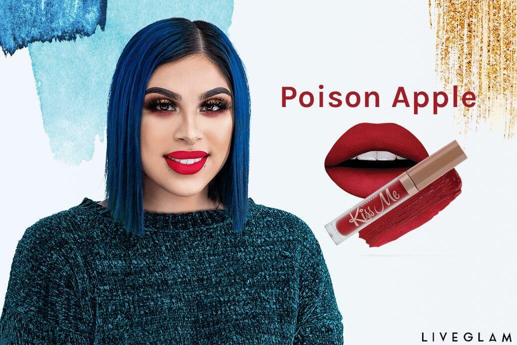Beauty By Bianca Favorite LiveGlam Lipstick Collection Poison Apple Lippie