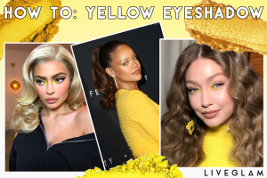 How to wear yellow eyeshadow
