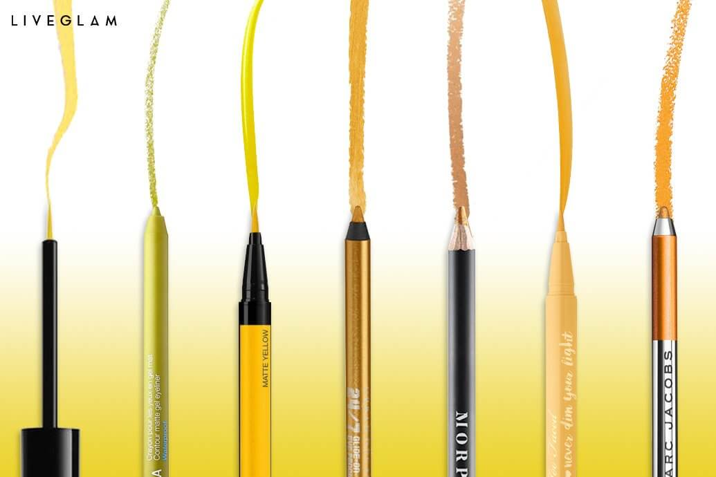 How to wear yellow eyeliner