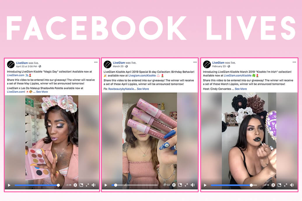 LiveGlam contests Facebook Lives