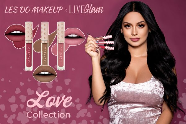 *SOLD OUT* *Version en español* Les Do Makeup x LiveGlam KissMe: Love Collection