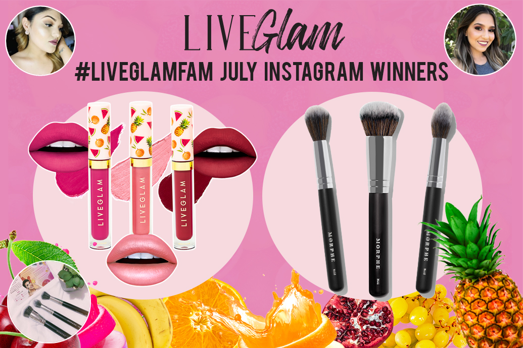 LiveGlam July Instagram Winners 2019