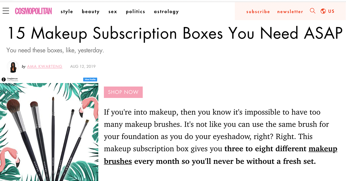 Best Makeup Subscription