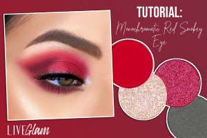 how to wear red eyeshadow