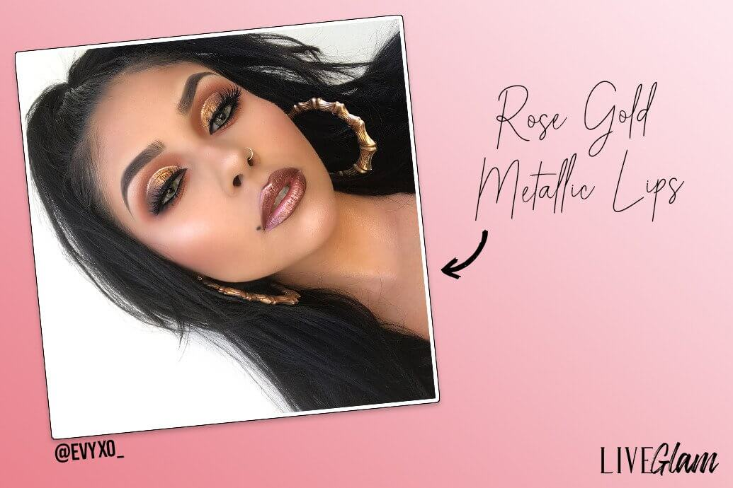 Rose Gold Metallic Lips