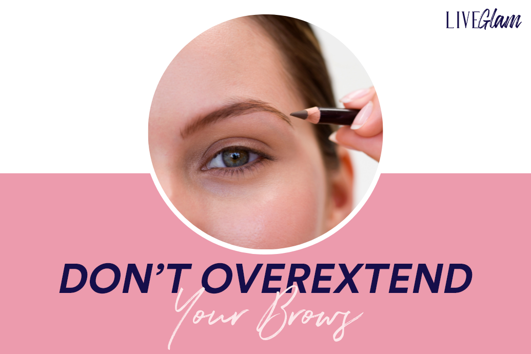 hooded eyes makeup tips dont overextend your brows