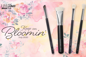 LiveGlam Brush Club July 2020 banner