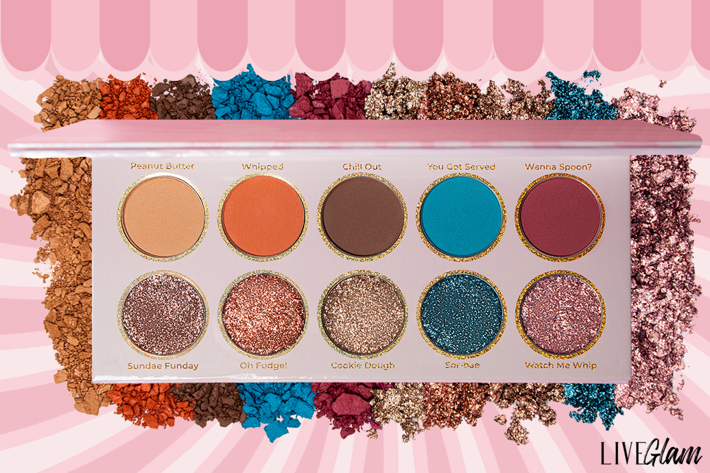 LiveGlam Whats The Scoop Palette shades