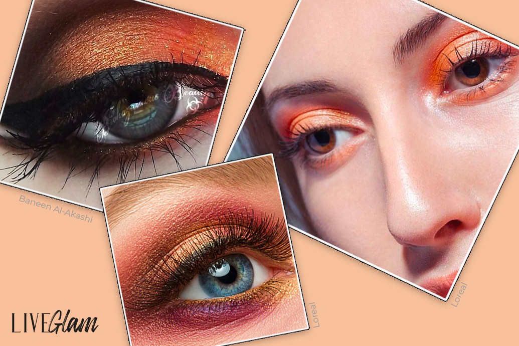 Black wing and orange shadow look for halloween