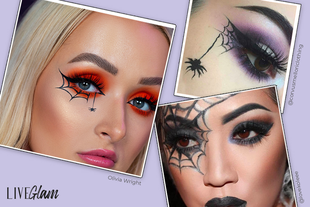 Cobweb and spider eye look for halloween