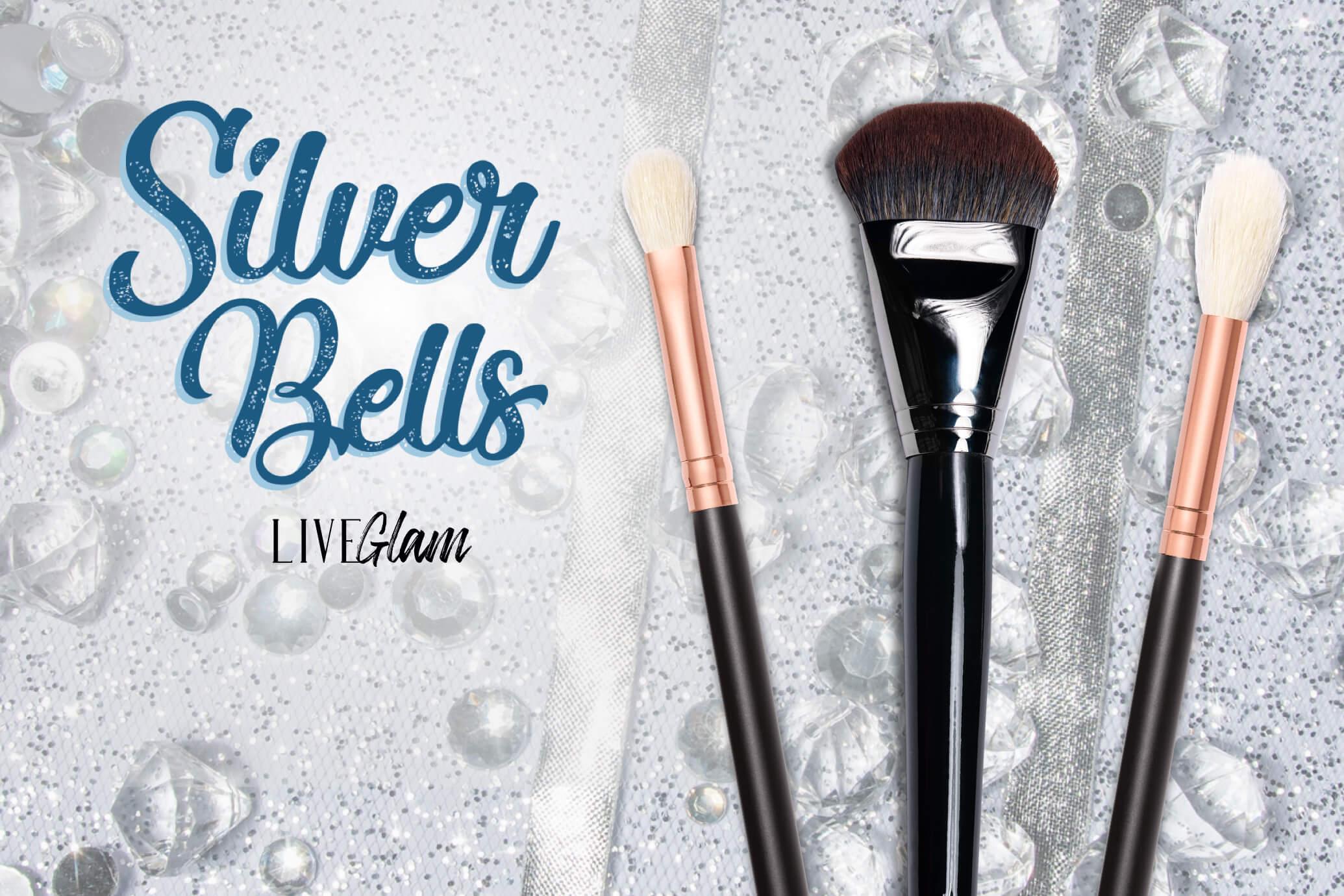 LiveGlam Silver Bells brush collection december 2020