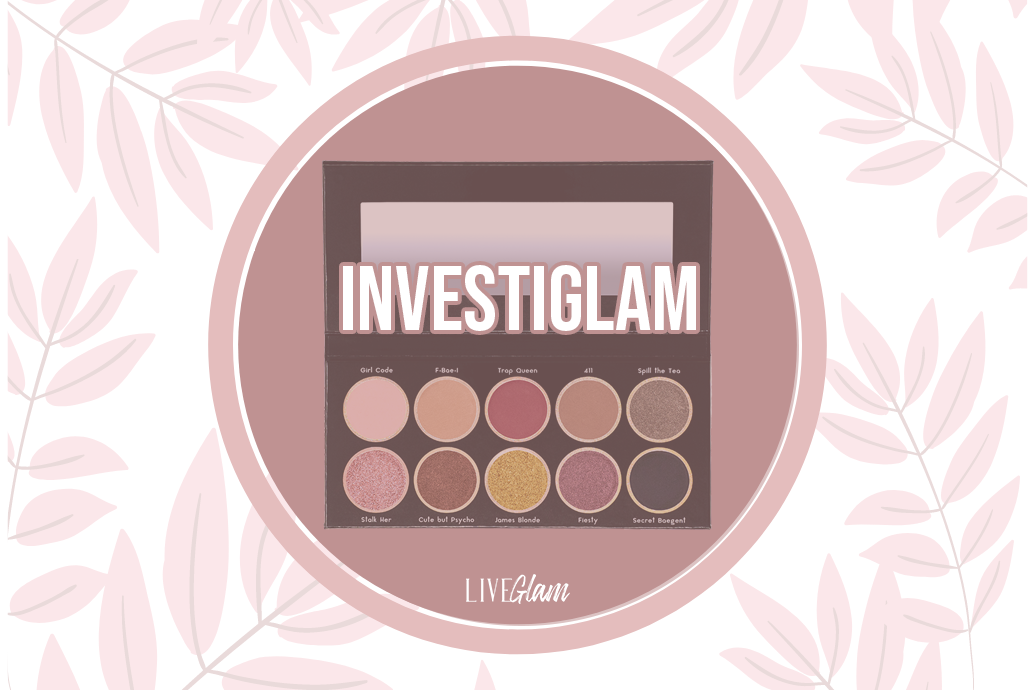 LiveGlam Investiglam Eyeshadow Palette Ingredients List