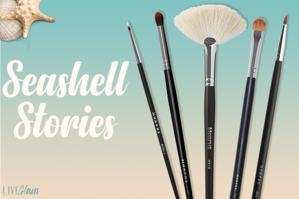 LiveGlam Seashell Stories makeup brush collection