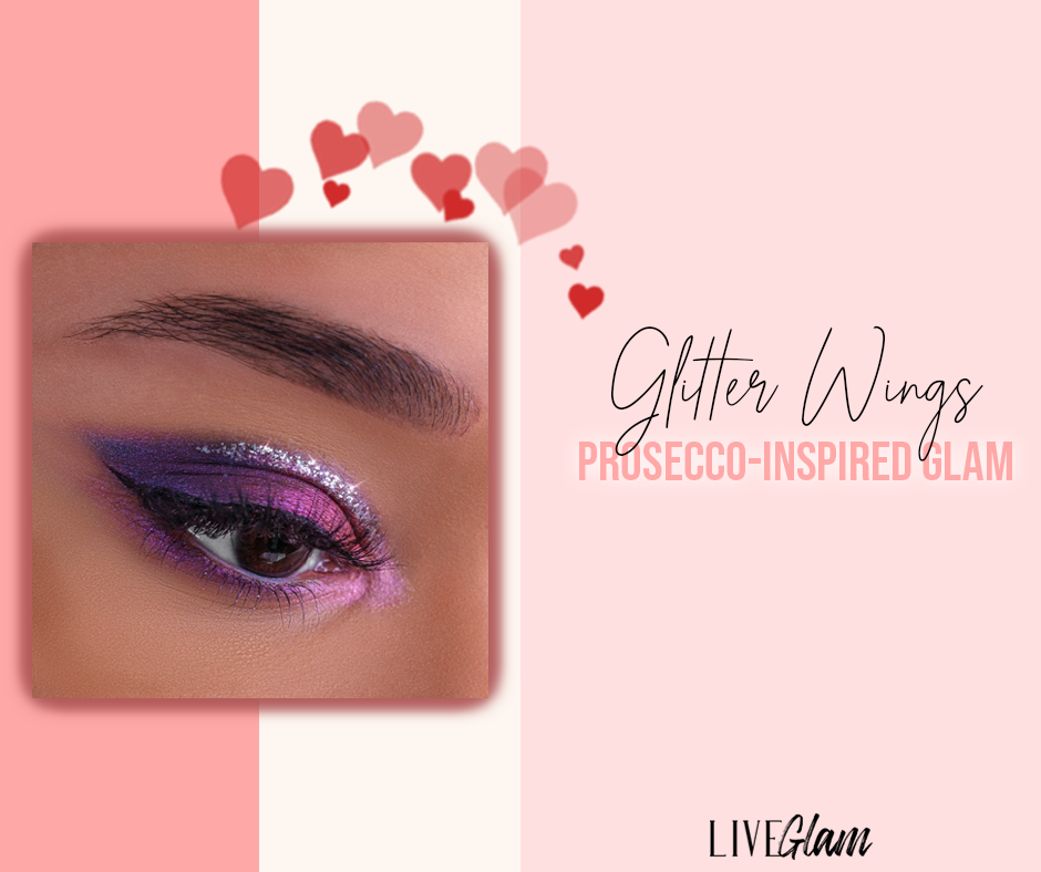 Valentines eye makeup looks Glitter wings