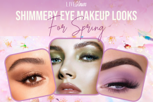 shimmery eye makeup looks for spring