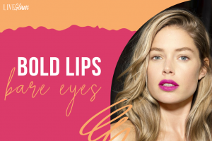 how to wear bold lipstick without eye makeup